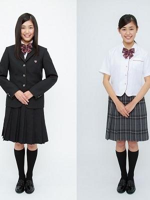 石川県立小松商業高校の制服画像...